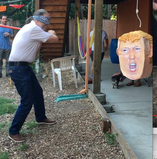 bashing Trump piñata