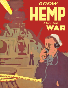 Grow Hemp For the War poster 1943